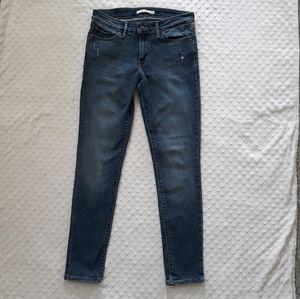 Womens Levis 711 Skinny denim jeans Size 28